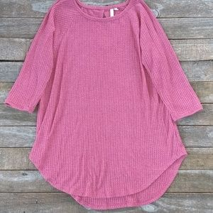 Anthropologie Pre & Good waffle knit thermal M